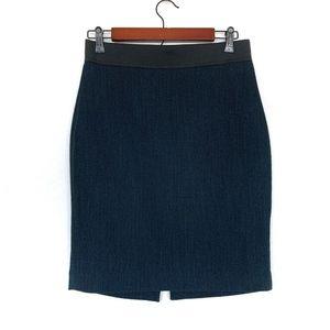 Express Blue Green Black High Rise Pencil Skirt